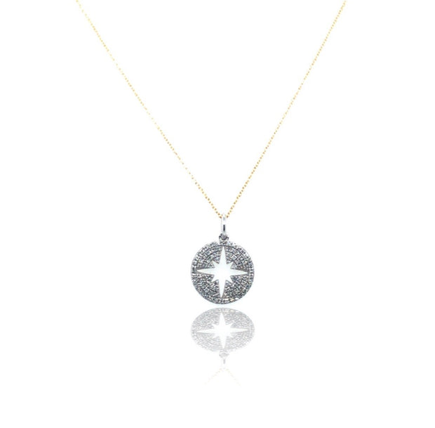 White Diamond Reverse Starburst necklace