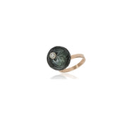 Carved Tahitian Pearl Ring