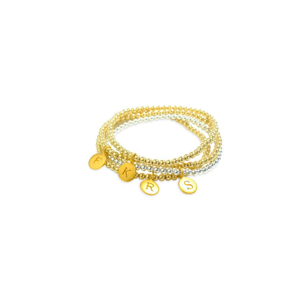 Gold and Silver Initial Bracelets
