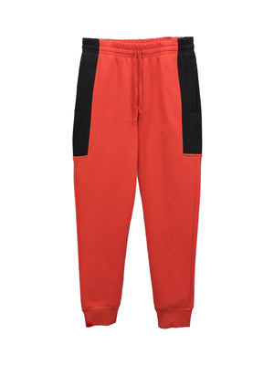Red Heavy Fleece - BLOCK JOGGERS