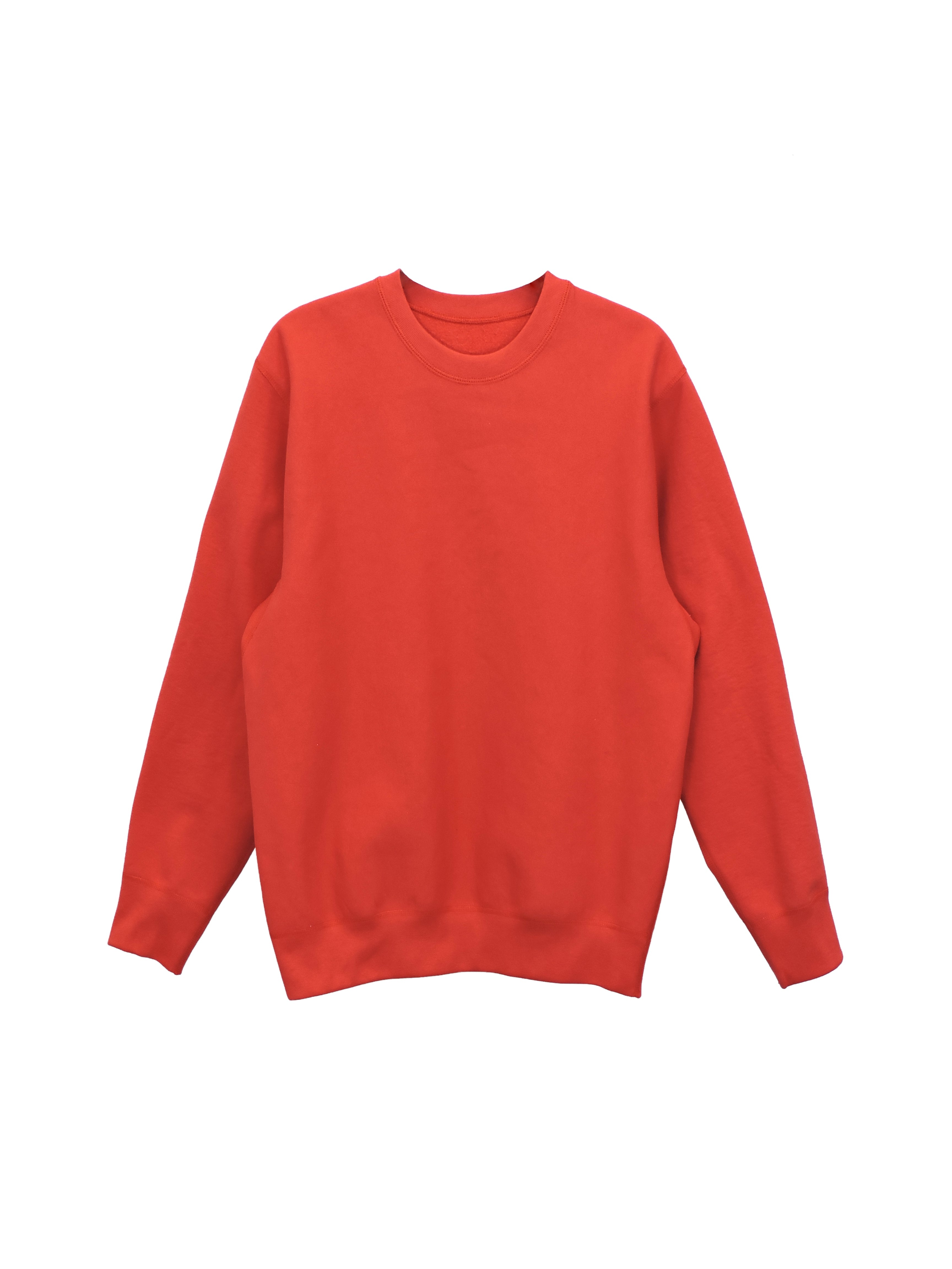 Red Heavy Fleece - MAIN CREWNECK