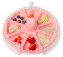 8 The Plate Tickle Me Pink Top View With Healthy Food