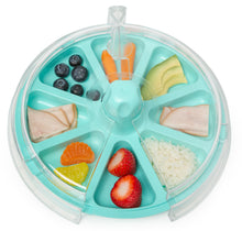8 The Plate Hang Ten Teal Top View With Healthy Food