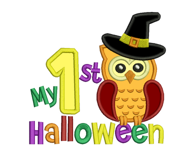 1st Halloween Owl Applique Design