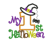 1st Halloween Spider Applique Design