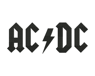 AC DC Embroidery Design