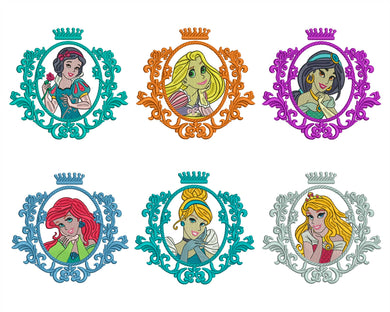 6 Disney Princess Embroidery Design