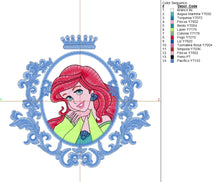Ariel Embroidery Design #1