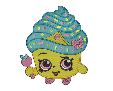 Cupcake Queen Embroidery Design
