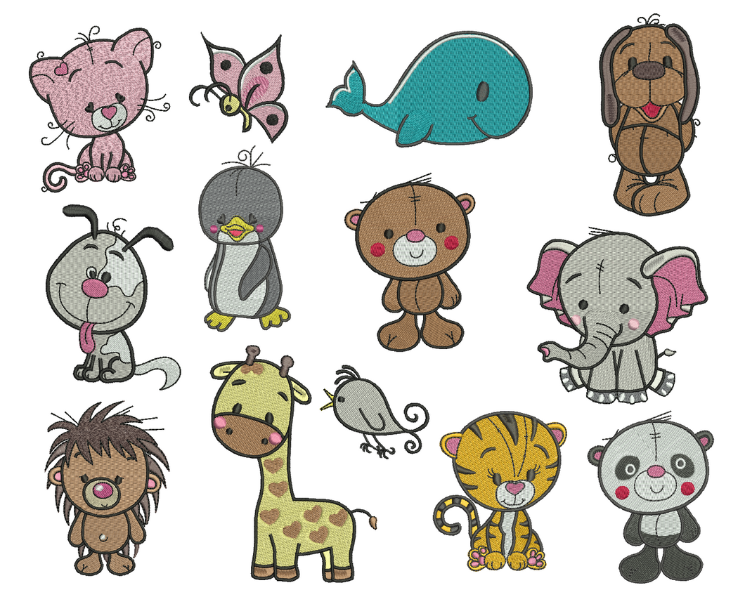 13 Cute Animal Embroidery Design Buy Embroidery Design