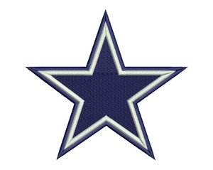 Dallas Cowboys Star Embroidery Design