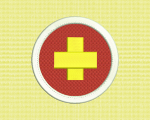 First Aid Merit Embroidery Design