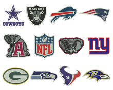 NFL Football Badge Embroidery Design Files