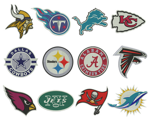 NFL Football Badge Embroidery Design