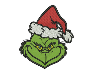 Grinch Embroidery Design File