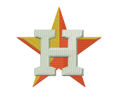 Houston Astros Embroidery Design #2