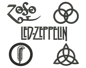 4 Led Zeppelin Embroidery Design