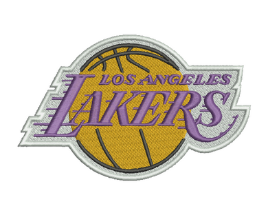 Los Angeles Lakers Embroidery Design #2