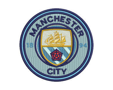 Manchester City Embroidery Design