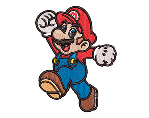 Mario Embroidery Design