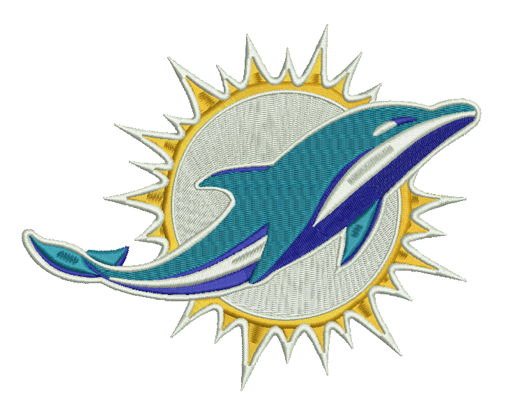 Miami Dolphins Embroidery Design