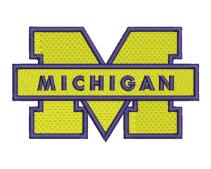 Michigan Wolverines Embroidery Design #1