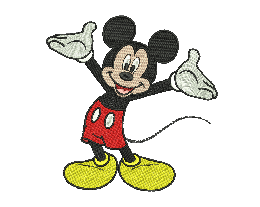 Mickey Embroidery Design #8