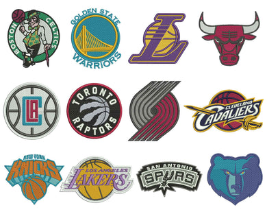NBA Basketball Badge Embroidery Design Files