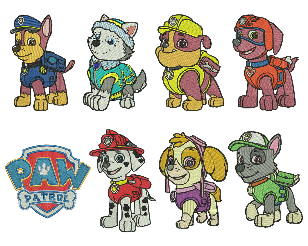 8 Paw Patrol Embroidery Design