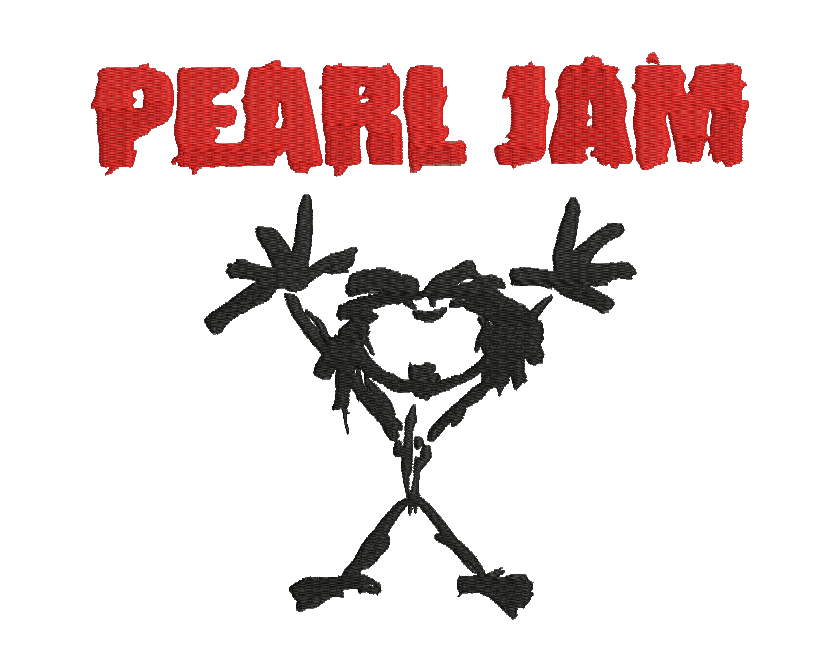 Pearl Jam Embroidery Design