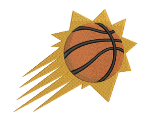 12 Basketball Badge Embroidery Design #2