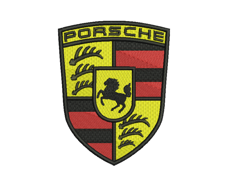 Porsche Embroidery Design