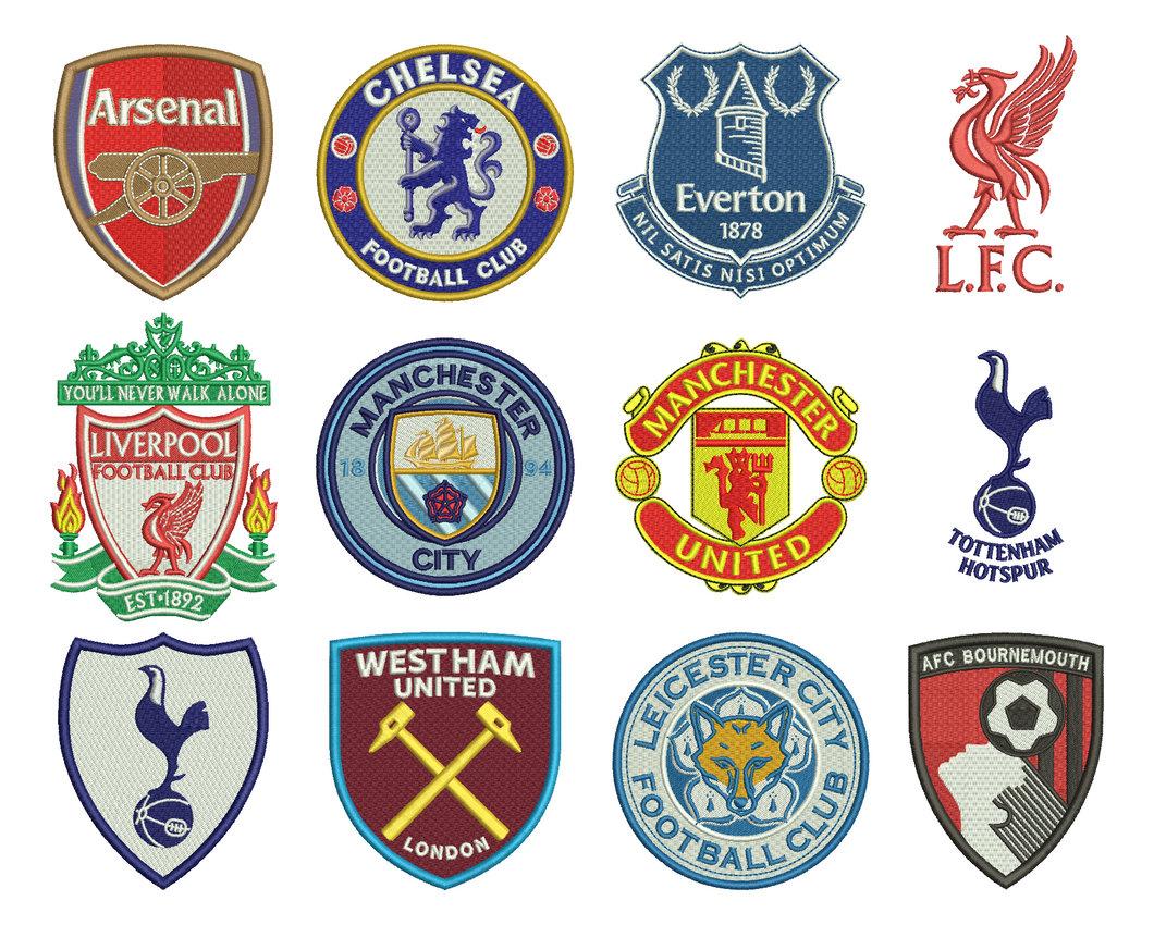 Premier League Embroidery Design Files