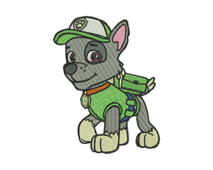 Rocky Embroidery Design