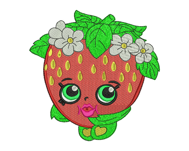 Strawberry Kiss Embroidery Design