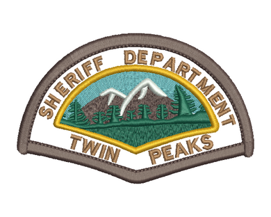 Twin Peaks Sheriff Badge Embroidery Design