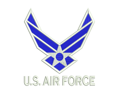 US Air Force Embroidery Design