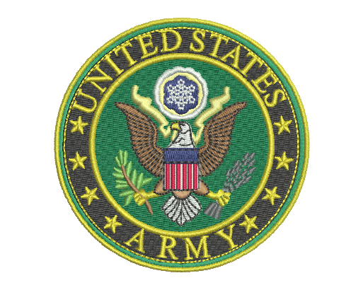 US Army Badge Embroidery Design