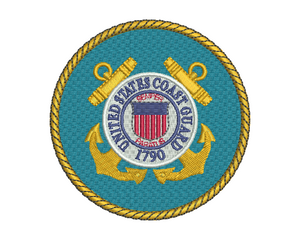 US Coast Guard Badge Embroidery Design