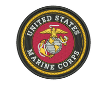 US Marine Corps Badge Embroidery Design