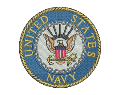 US Navy Badge Embroidery Design