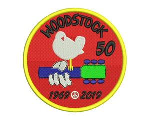Woodstock 50th Anniversary Embroidery Design