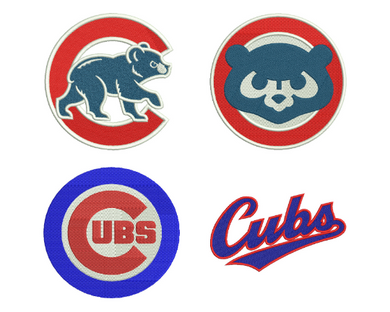 4 Chicago Cubs Embroidery Design