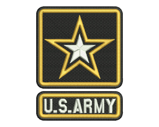 U. S. Army Emblem Embroidery Design