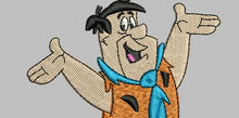 Fred Flintstone Embroidery Design
