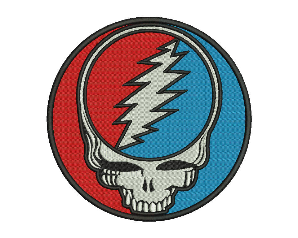 Grateful Dead Emblem Embroidery Design File