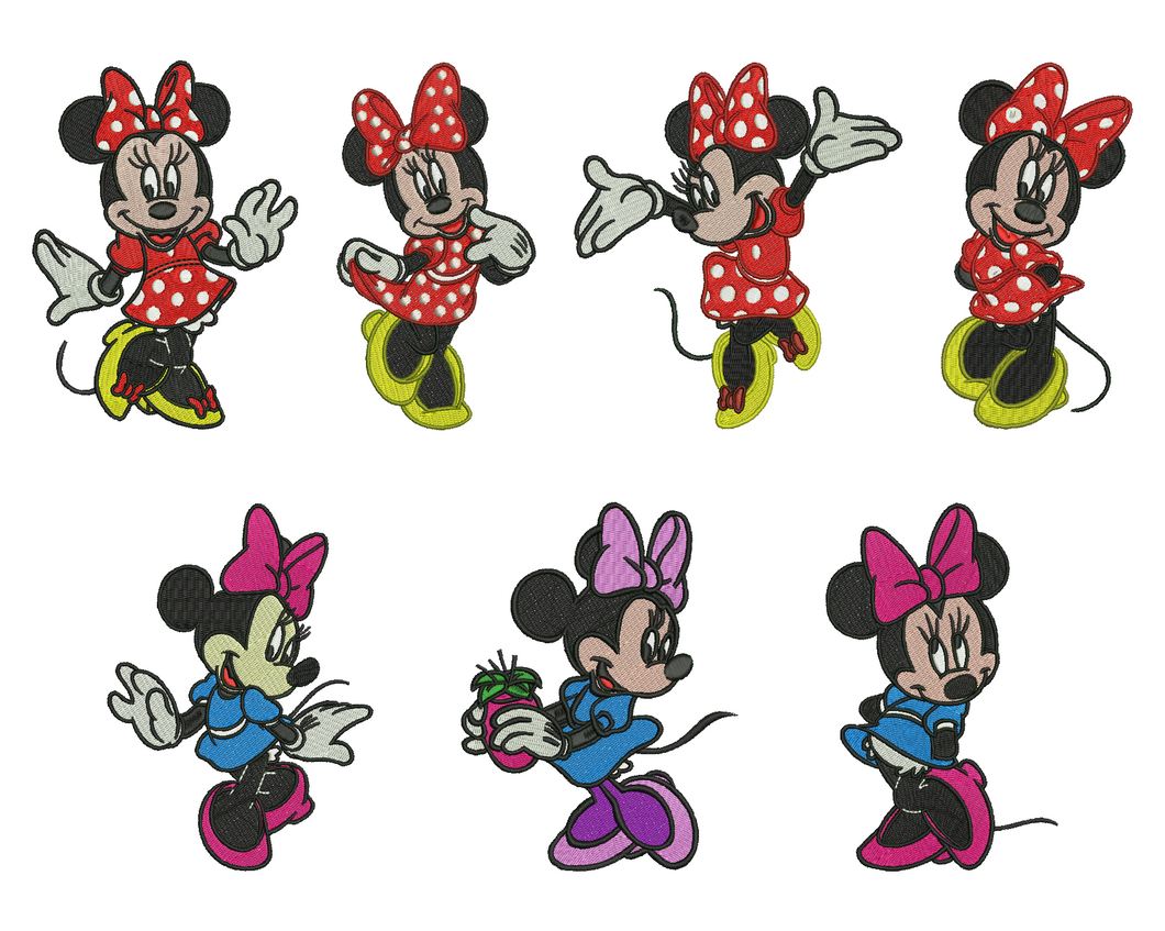Minnie Mouse Embroidery Design
