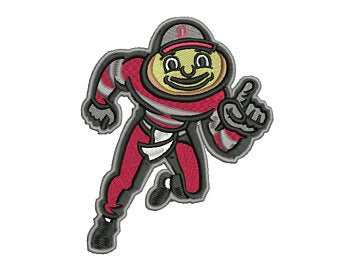 Brutus Buckeye Embroidery Design