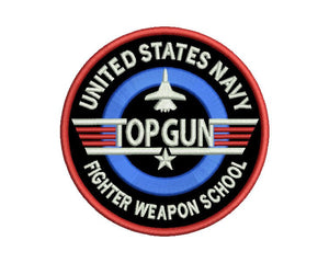 Top Gun Badge Embroidery Design