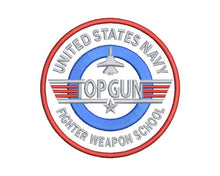 Top Gun Embroidery Design #2